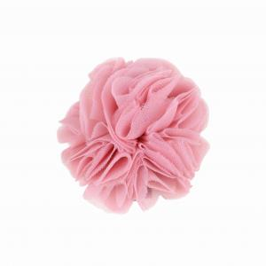 Hairclip with tulle ball- CORAL PINK