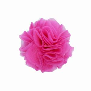 Hairclip with tulle ball- SWEET PINK