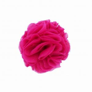Hairclip with tulle ball- RASPBERRY