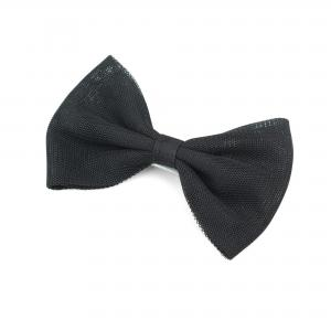 Hairclip with tulle bow- BLACK