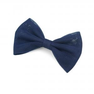 Hairclip with tulle bow- NAVY