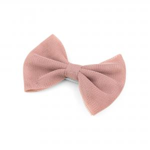 Hairclip with tulle bow- SAND PINK