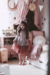 TULLE SKIRT- SAND PINK