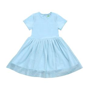 DRESS WITH TULLE- ICE BLUE