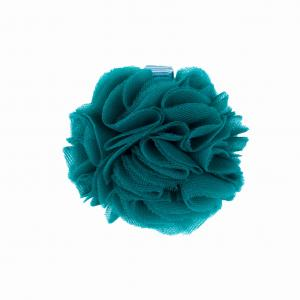 Hairclip with tulle ball- TEAL