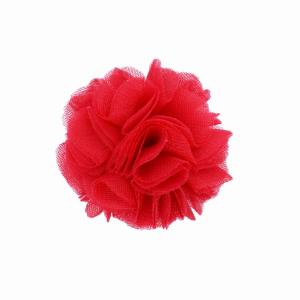 Hairclip with tulle ball- RED