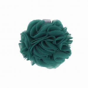 Hairclip with tulle ball- DARK GEEN