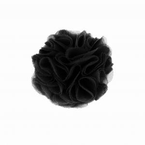 Hairclip with tulle ball- BLACK