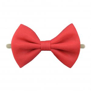 Headband with tulle bow- RED
