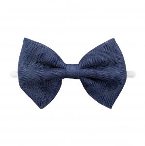 Headband with tulle bow- NAVY