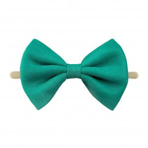 Headband with tulle bow- DARK GREEN