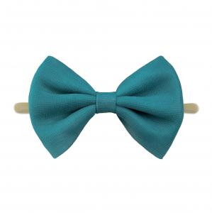 Headband with tulle bow- TEAL