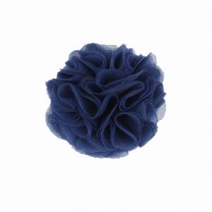 Hairclip with tulle ball- NAVY