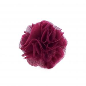 Hairclip with tulle ball- WINE