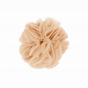 Hairclip with tulle ball- CAPPUCINO